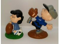 Optimist Charlie Brown 2013 HALLMARK PEANUTS Magic Ornament Sound Football Lucy