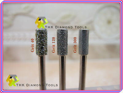 как выглядит 30 pieces THK Diamond coated CYLINDRICAL cylinder burr 4MM to 6MM rotary burrs фото