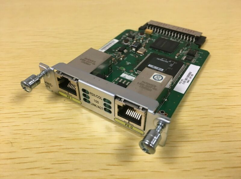 Cisco HWIC-2FE 2-Port Fast Ethernet Expansion Module