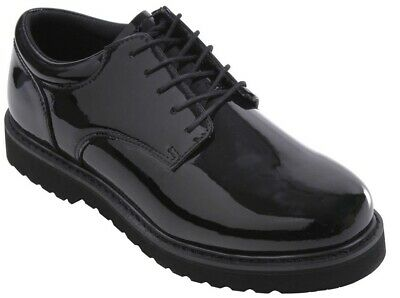 oxford uniform shoes poromeric leather high gloss work sole black rothco 5250 Black Uniform Shoes