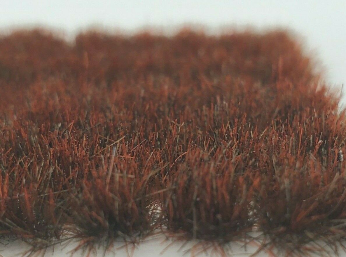 Self Adhesive Static Grass Tufts for Miniature Scenery -Dark Brown- 6mm