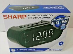 Sharp AccuSet ALARM CLOCK with DISPLAY DIMMER Automatic Time Set, Time Zone