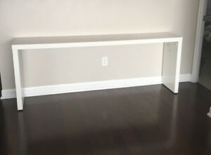 White long console table