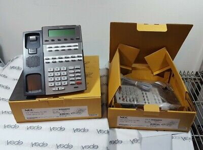 New-open Box Lot Of Two Nec Dsx 22b Display Dx7na-22btxh Tel Office Phones
