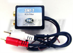 PAC-SNI-1-RCA-Ground-Loop-Isolator-Noise-Filter-Adapter-to-Reduce-Engine-Noise