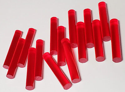 """1 Pc 2 1//4/"""" x 2/"""" RED CLEAR ACRYLIC PLEXIGLASS LUCITE PLASTIC TUBE 24"""" INCH LONG"""