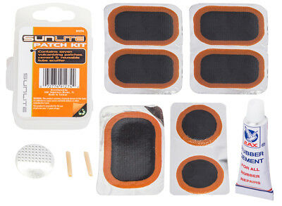 SUNLITE Bicycle Tire Tube Repair Patch Kit w/ 7 Patches