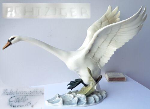 Porcelain Figurine Swan Hutschenreuther Hans Eighties Um 1970 N46