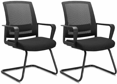 Office Guest Chair Lumbar Support Mid Back Mesh Space Air Grid Series Reception