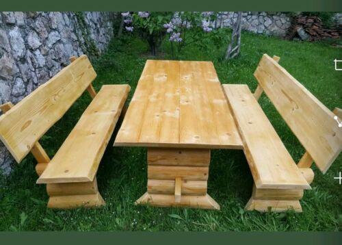 Holzgarnitur Massiv  Gartenmöbel Sitzgruppe  NEU