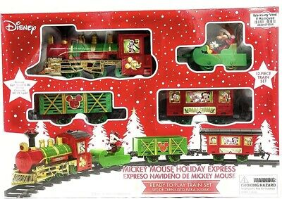 Mickey Mouse Holiday Christmas Train Set
