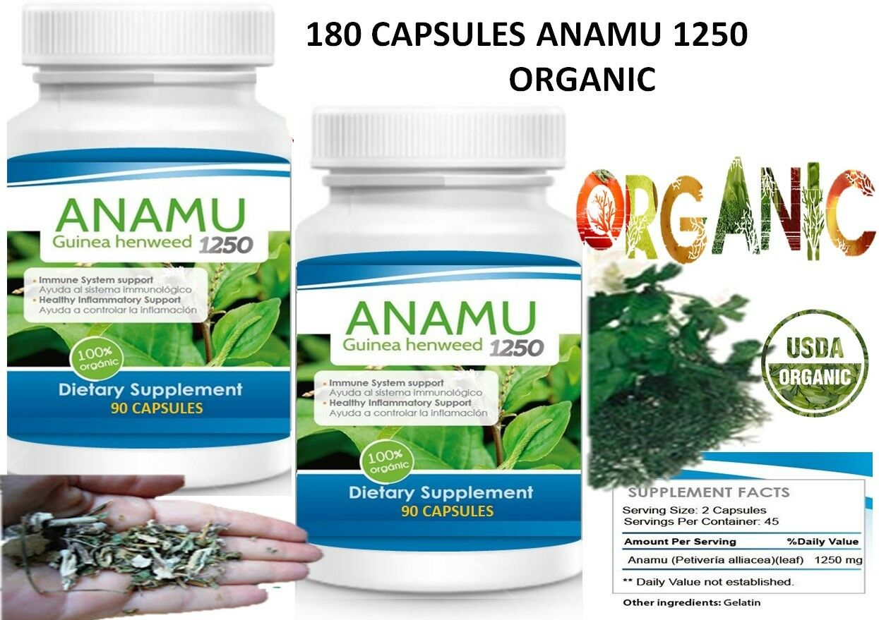 180Caps ANAMU 1250mg Circulatory System Low Sugar Control 100% Effective 180 cap 2