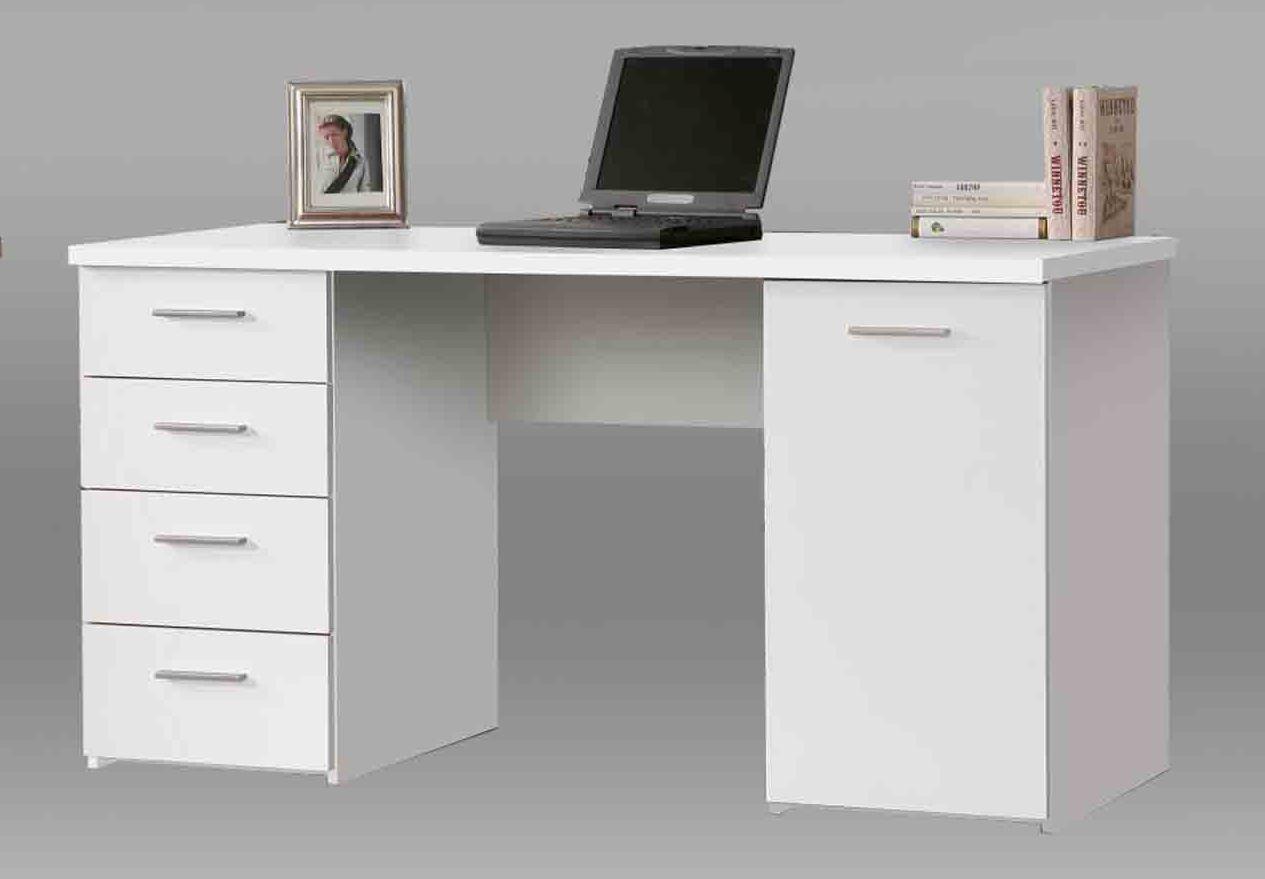 Tempra White Office Furniture Bookcase Sideboard Desk