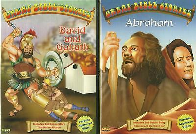 Lot 4 Kids Great Bible Stories Animated ...