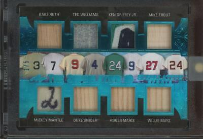 2020 Superlative Ruth Griffey Trout Mantle Mays Ryan Maddux 1/5 Bat Patch Jersey