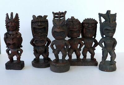 Resin Tiki Figurines Vtg 2003 Dollar Store Tikis 5-6
