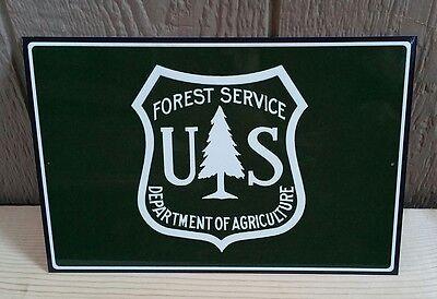 U.S. FOREST SERVICE EMBLEM LOGO 8x12 METAL SIGN IN ORIGINAL CELLOPHANE SLEEVE