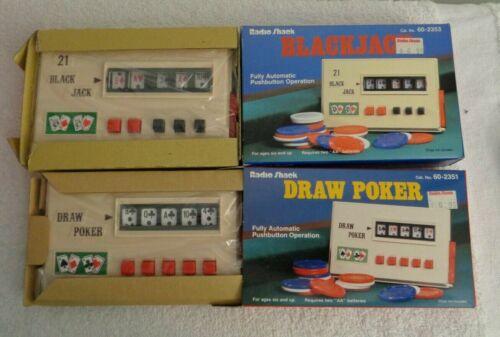 2 JAPAN Vintage Handheld Poker Games In Original Box Actual Spinning Reels