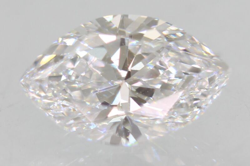 Certified 0.51 Carat D VVS2 Marquise Enhanced Natural Loose Diamond 6.9x4.4mm