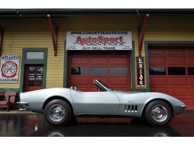Chevrolet : Corvette 1969 Cortez Silver/Gunmetal Grey Corvette Conv #'s Match AC Tilt/Tele Loaded!