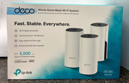 TP Link Deco M4 (3-Pack) Whole Home Mesh Wi-Fi System