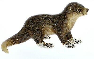 Sterling Silver & Enamel Otter by Saturno