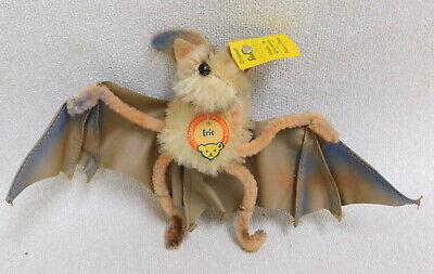 SCARCE 1950s Vintage Original Steiff Mohair Eric the Bat Plush Toy w ID Tag