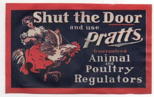 1890 Advertising Label for Pratt