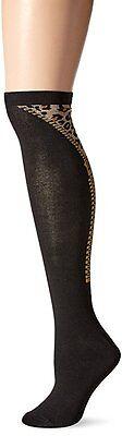 Leopard Knee High Socks - K. Bell Women's Patterned Knee High Socks Zippered Leopard Look Size 9-11 NWT