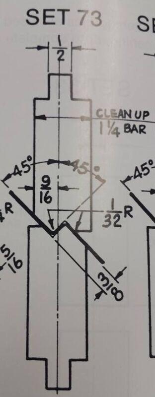 PRESS BRAKE DIE 3/8 INCH OFFSET #73 12 INCH