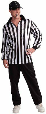 Forum Novelties Men's Referee Costume Shirt and Hat