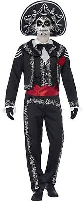 Smiffy's Day of the Dead Senor Bones Mexico Adult Mens Halloween Costume 43738