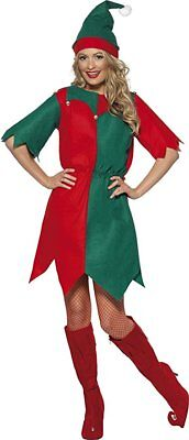 Smiffys Elfen Santas Kleiner Helfer Weihnachten Erwachsene Damen Kostüm 21474
