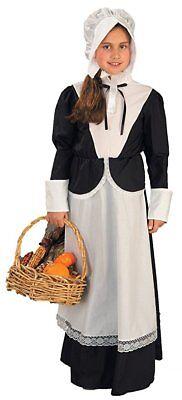 New Pilgrim Girl Costume Thanksgiving Halloween Colonial Days School Size Small