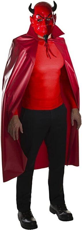 Rubie's Men's Scream Queens Red Devil Mask and Cape Set