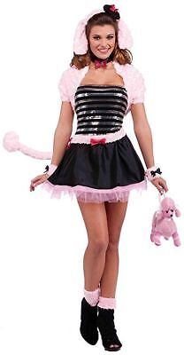 Forum Womens Pink Tutu Sexy French Poodle 1950's Sequin Halloween Party Costume  - 1950s Womens Halloween Costumes
