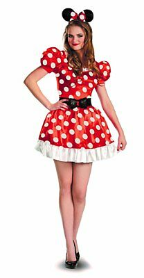 Classic Minnie Mouse Costume (Disguise Disney Minnie Mouse Mickey Adult Womens Classic Halloween Costume)