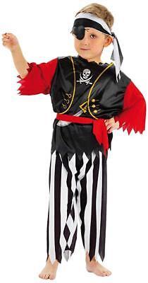 Kostüm Pirat Gr. 98 104 110 116 122 128 Augenklappe Kinder Karneval neu  - Pirat Kind Kostüm