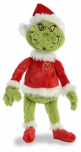 "Grinch Santa 19"" Stuffed Plush Grinch Santa Green Red White Dr.Seuss Aurora new"