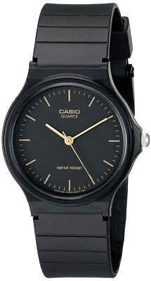 Casio Men's Analog Quartz Black Resin Watch MQ24-1E