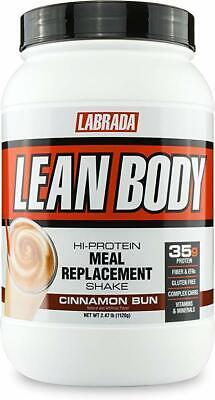 Labrada LEAN BODY Protein Meal Replacement 2.47 lb CINNAMON BUN - SALE Lean Body Powder