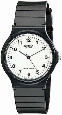 Casio Men's Analog Quartz Black Resin Watch MQ24-7B