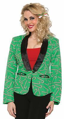 Forum Women's Christmas Blazer Jacket, Candy Canes