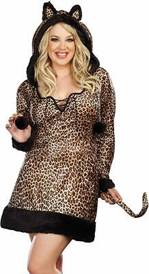 Cheetah Costume Women (New Dreamgirl Cheetah-Luscious Woman Costume Plus Size)