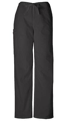 Scrubs Cherokee Workwear Men's Drawstring Pant 4100 BLKW Black Free Shipping