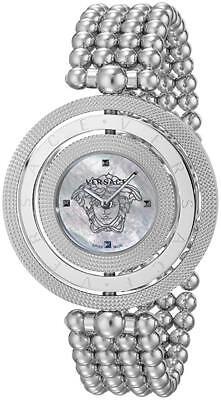 Versace Women's VQT050015 Eon Mother Of Pearl Dial Stainless Steel 3 Bezel Watch