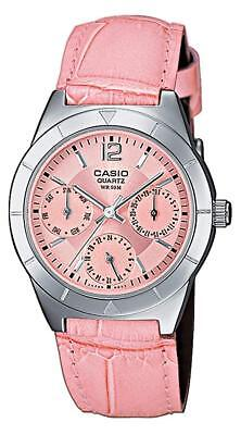 8966a3693d6e Reloj Casio Rosa LTP-2069L Correa Cuero Analógico Mujer o Niña LTP2069L  LTP2069