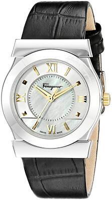 Ferragamo Women's FI1990015 Vega Swiss Steel Silver Mother of Pearl Dial Watch