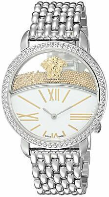 Versace Women's VAS090016 Krios Stainless Steel White Dial Micro Spheres Watch