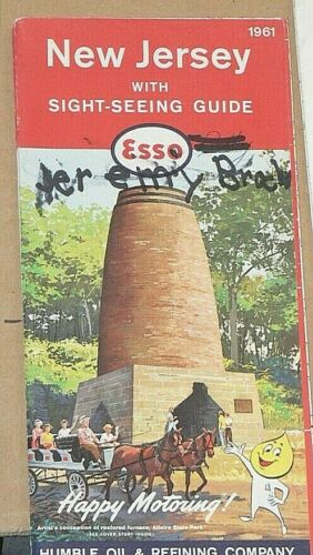 1961 Esso Travel Map of New Jersey